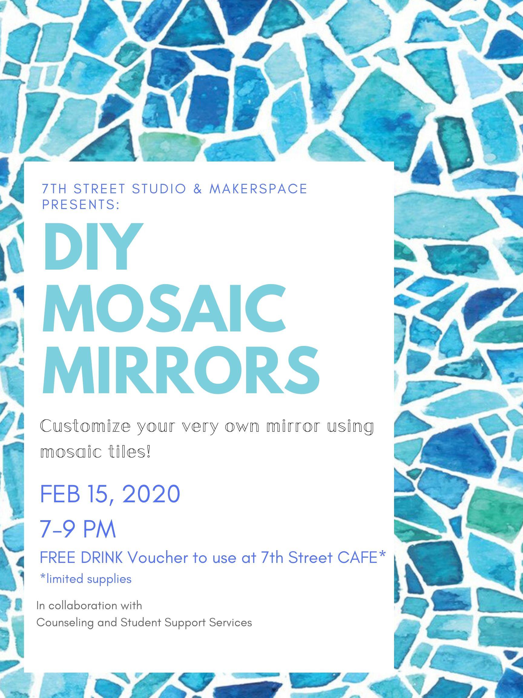 DIY Mosaic Mirrors